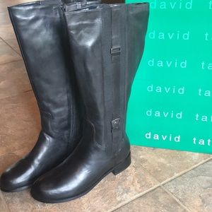 David Tate • Black Leather riding boot • Ashley